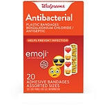 Walgreens Children's Emoji Antibacterial Bandages Assorted
