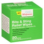 Walgreens Bite And Sting Relief Wipes