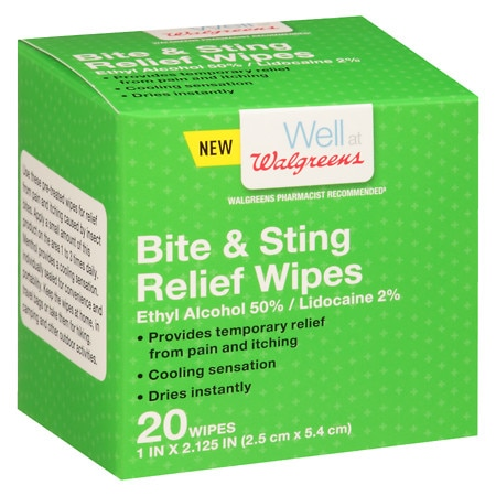 Walgreens Bite And Sting Relief Wipes - 20 ea