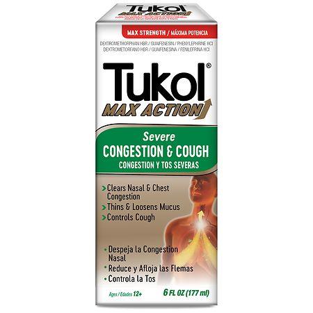 Tukol Severe Congestion & Cough Relief Liquid - 6 oz.
