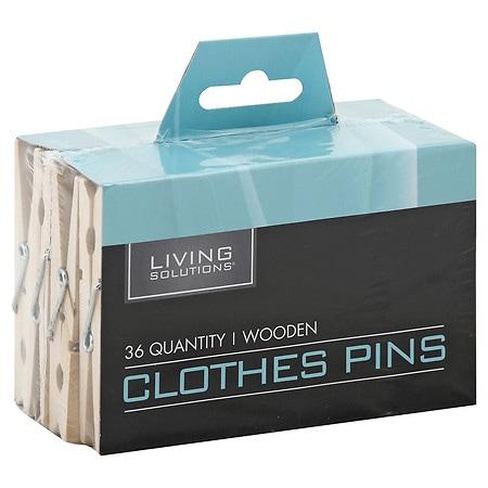 Living Solutions Clothes Pins - 36 ea