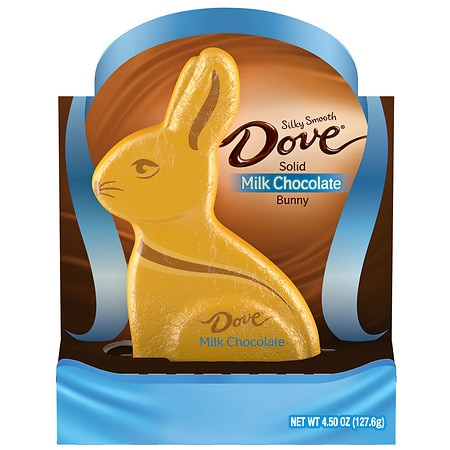 Dove Milk Chocolate Candy Solid Easter Bunny - 4.5 oz.