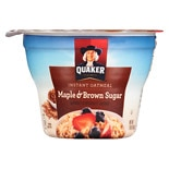 Quaker Instant Oatmeal Cup Maple Brown Sugar