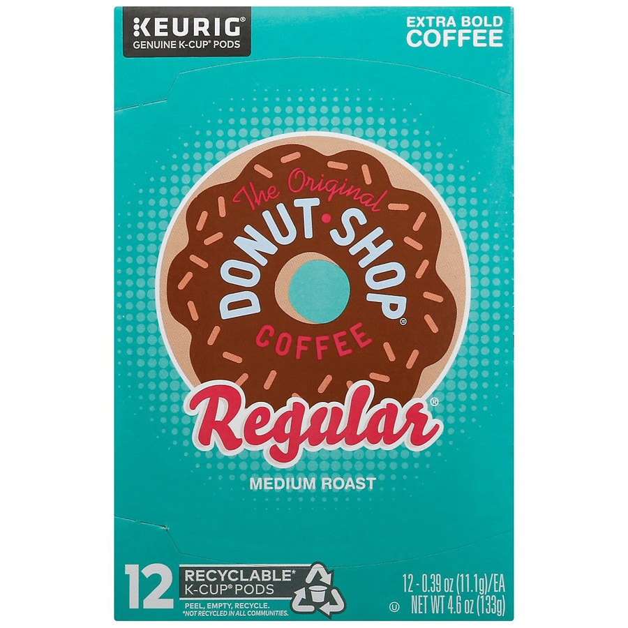 The Original Donut Shop Sweet and Creamy Regular K-Cups 4 x 16 Count Boxes