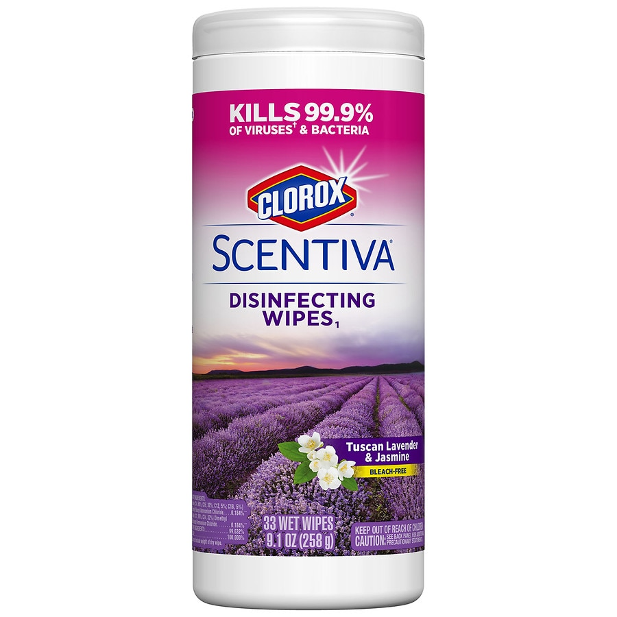 Clorox Scentiva Disinfecting Wipes Tuscan Lavender & Jasmine