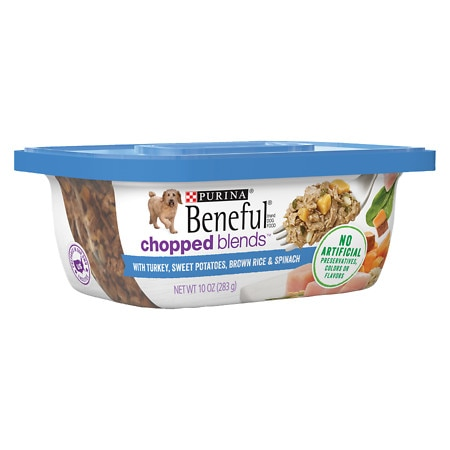 Image of Beneful Prepared Meals Dog Food With Turkey, Sweet Potatoes, Brown Rice & Spinach - 10 oz.