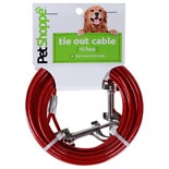 Petshoppe Dog Tie-Out Cable 15 in