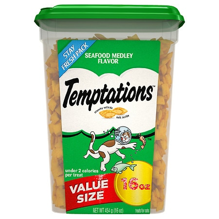 Temptations Cat Food Value Pack Seafood Medley - 16 oz.