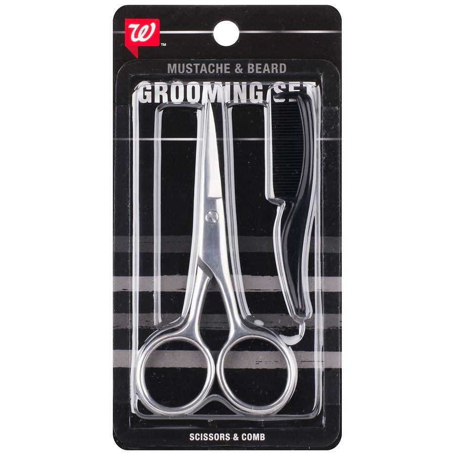 Walgreens Men's Mustache/Beard Scissors & Comb