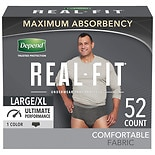 Depend Real Fit Incontinence Underwear for Men, Maximum Absorbency, Large/ XLarge