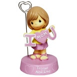 wag-Mother's Day Precious Moments Photo Holder Figurine - Girl