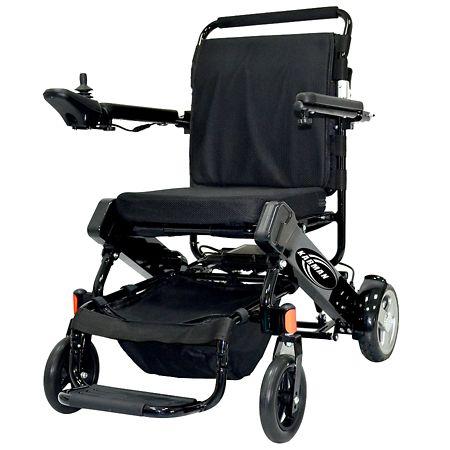 Karman Tranzit Foldable Lightweight Power Wheelchair in Black 16