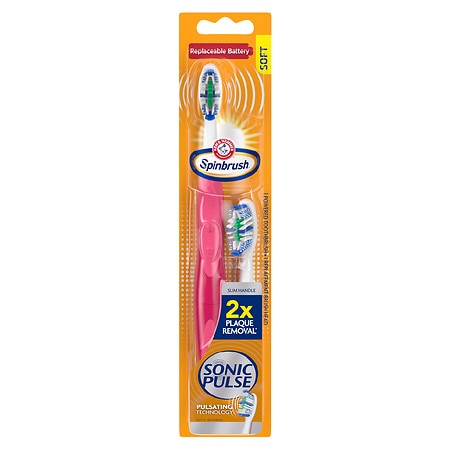 SpinBrush by Arm & Hammer Sonic Pulse Powered Toothbrush - 1 ea