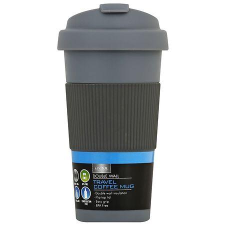 Living Solutions Double Wall Travel Mug 16 ounce - 1 ea