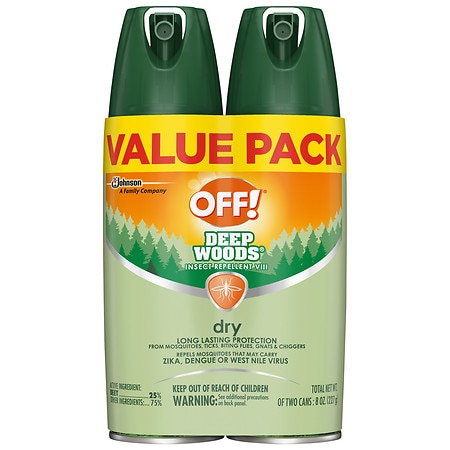 Off! Deep Woods Insect Repellent VIII Dry - 8.0 oz