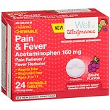 Walgreens Pain & Fever Dissolving Tablets Grape