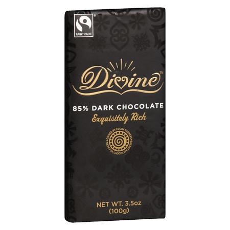 Divine Chocolate 85% Dark Chocolate Bar - 3.5 oz.