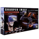 Sharper Image Drone DX HD Streaming FPV with Virtual Reality Headset Black & White