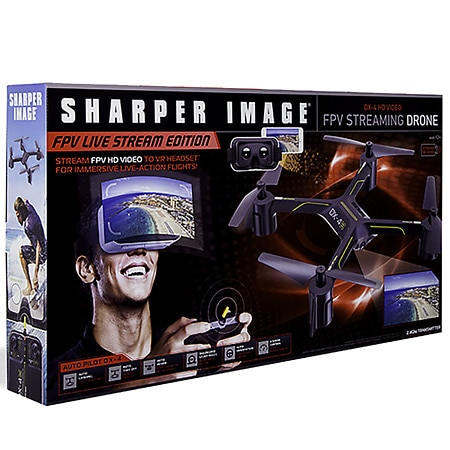 Sharper Image Drone Dx Hd Streaming Fpv With Virtual Reality Headset