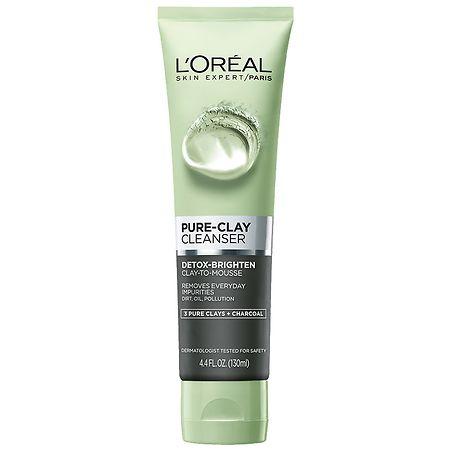 L'Oreal Paris Pure-Clay Cleanser Detox & Brighten - 4.4 oz.
