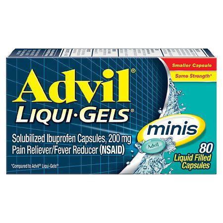 Advil Liqui-Gels Minis Ibuprofen Pain Reliever & Fever Reducer Capsules, 200mg - 20 ea