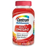 Centrum Multi Gummies Multi+ Omega 3 Natural Strawberry, Lemon, & Orange