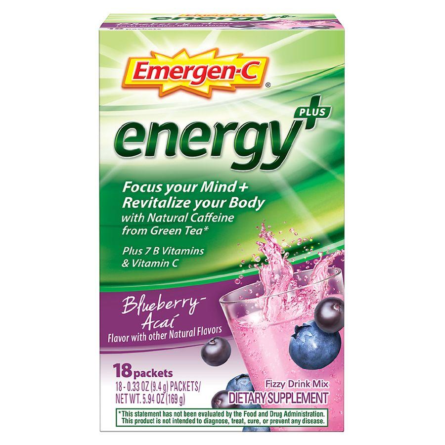 Vitamins For Energy >> Emergen C Energy Blueberry Acai