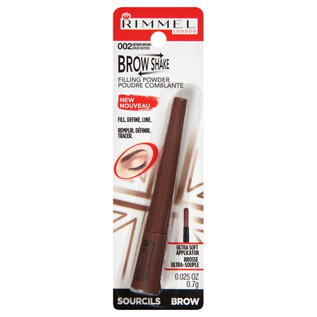 Rimmel Brow Shake Powder 002 Medium Brown - 0.17 oz.