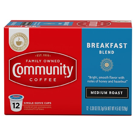 Community Coffee Breakfast Blend Coffee Pods - 0.38 oz. x 12 pack