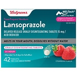 Walgreens Lansoprazole Delayed Release Orally Disintegrating Tablets Acid Reducer Strawberry