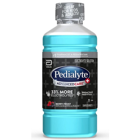 Pedialyte Advanced Care Electrolyte Solution Ready-to-Drink Berry Frost - 1 L