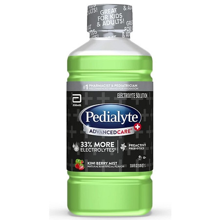 Pedialyte Electrolyte Solution Ready-to-Drink Kiwi Berry Mist, Liter - 1 L