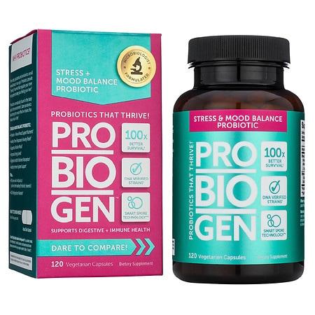 Probiogen Stress & Mood Balance Probiotic Vegetarian Capsules - 120 ea