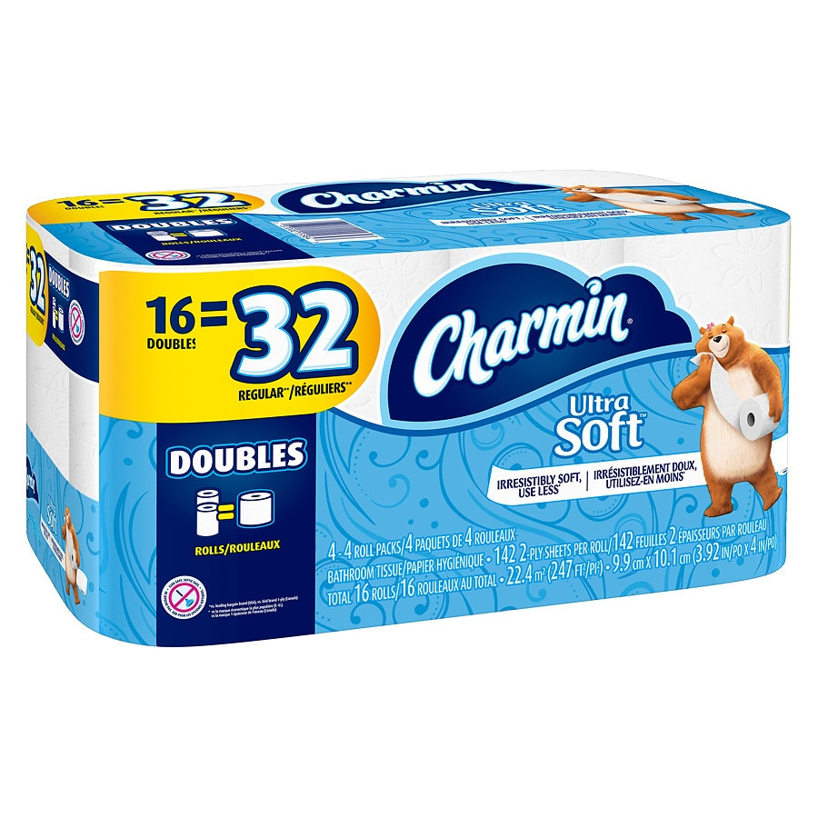 Charmin Ultra Soft Bath Tissue Double Rolls | Walgreens