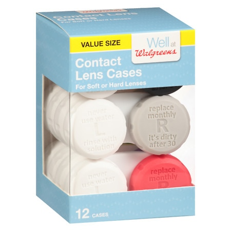 Walgreens Contact Lens Cases - 12.0 ea