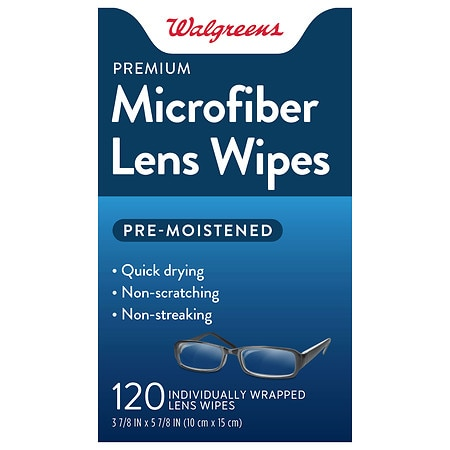 Walgreens Pre-Moistened Lens Wipes - 120.0 ea