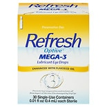 Refresh Optive Mega-3 Eye Drops Preservative Free