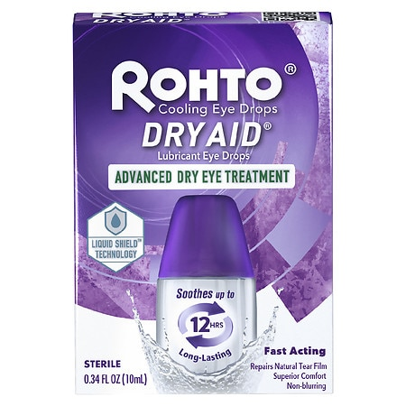 Rohto Dry-Aid Eye Drops - 0.34 oz.