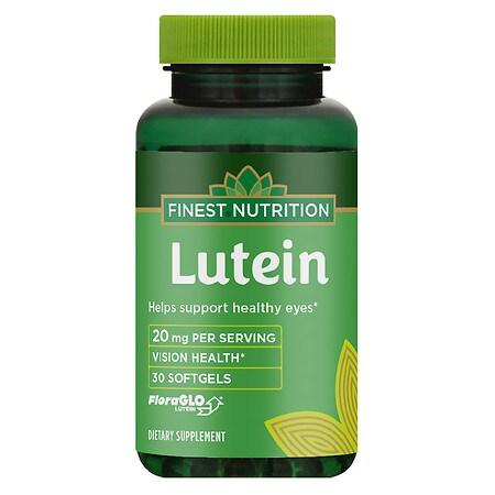 Finest Nutrition Lutein 20 mg Softgels - 30 ea