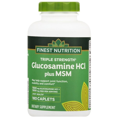 Finest Nutrition Glucosamine MSM Caplets Double Strength - 180 ea
