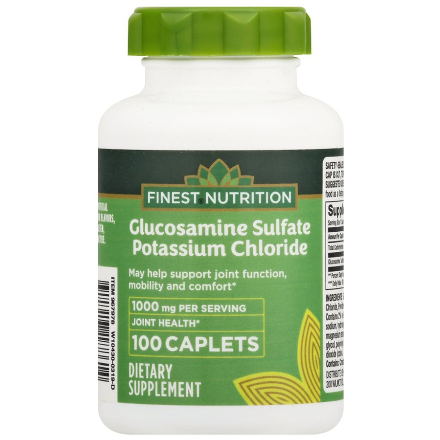 finest nutrition glucosamine sulfate caplets walgreens