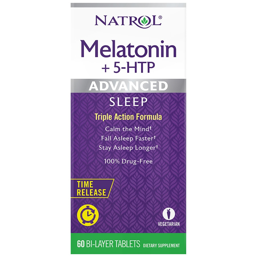 Natrol Advanced Sleep Melatonin+5-HTP Tablets