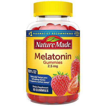 Nature Made Melatonin Gummies Strawberry - 80 ea