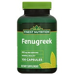 Finest Nutrition Fenugreek 610 mg Capsules