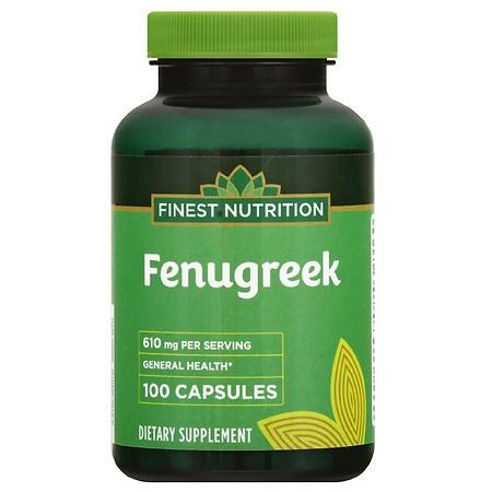 Finest Nutrition Fenugreek 610 mg Capsules - 100 ea