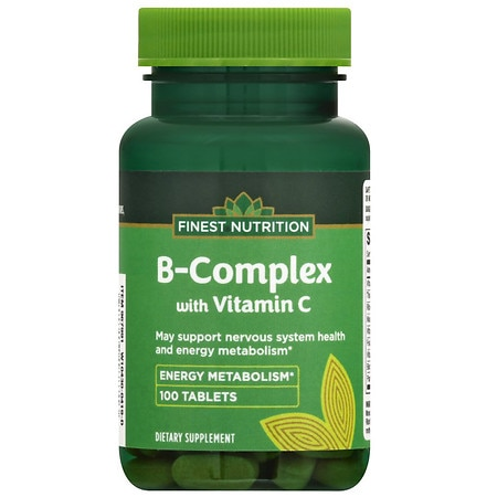 Finest Nutrition B Complex 500 mg Tablets - 100 ea
