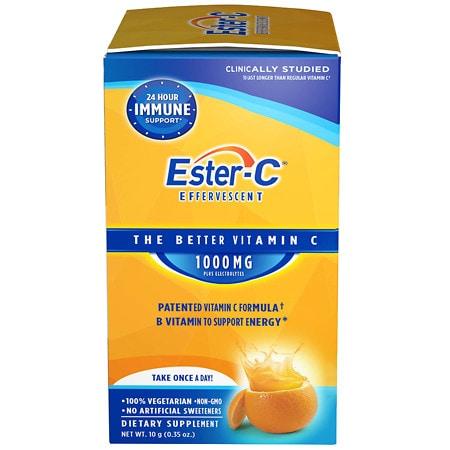 Ester C 1000 mg Effervescent Packets - 21 ea