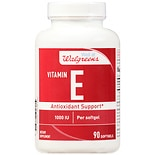 Walgreens Vitamin E 1000 IU Softgels