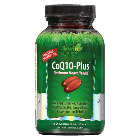 Irwin Naturals CoQ10 Plus Liquid Softgels - 60 ea