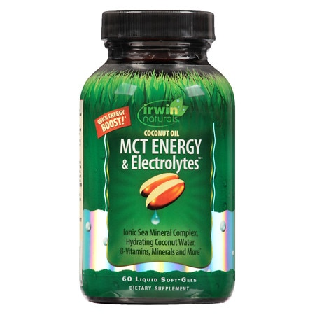 Irwin Naturals Coconut Oil MCT Energy & Electrolytes Liquid Softgels - 60 ea